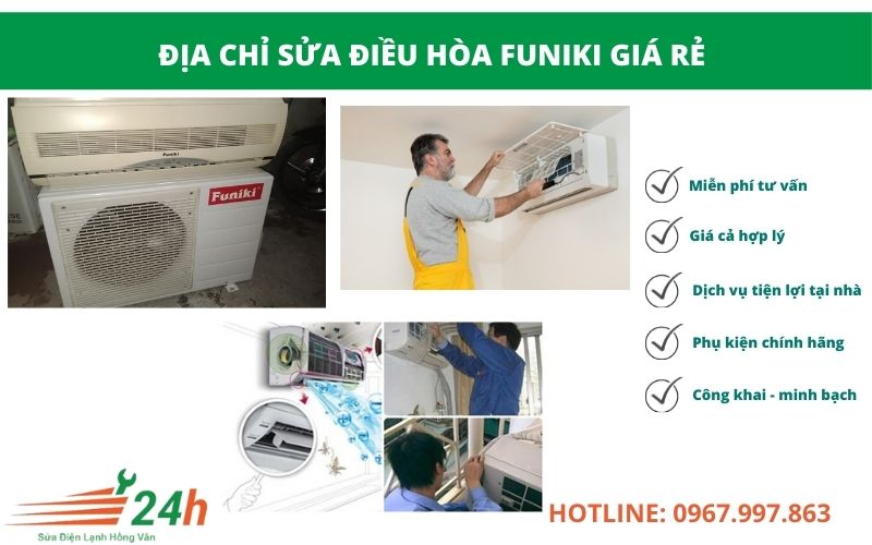 Điện Lạnh Hồng Vân nhận sửa điều hòa Funiki tất cả các lỗi
