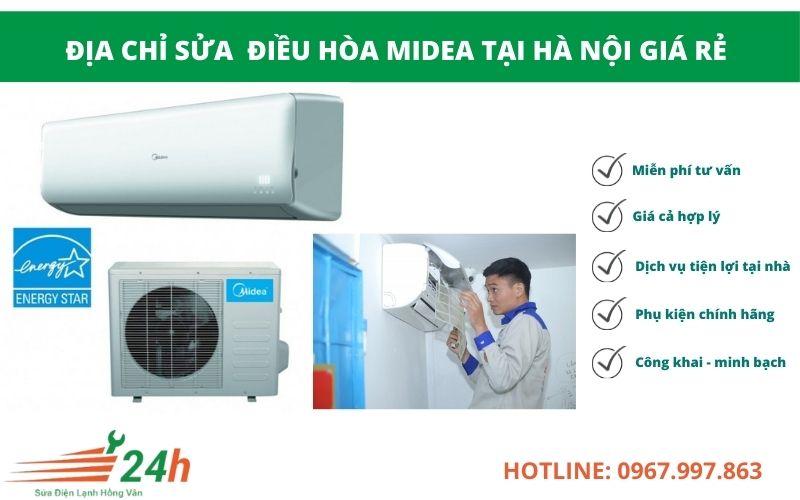 Điện Lạnh Hồng Vân nhận sửa điều hòa Midea giá rẻ trên toàn Hà Nội