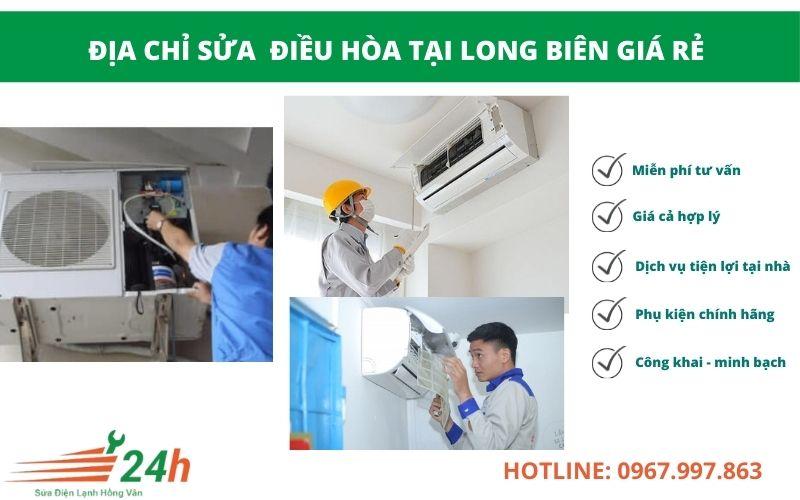 Điện Lạnh Hồng Vân nhận sửa điều hòa tại Long Biên giá rẻ, có bảo hành