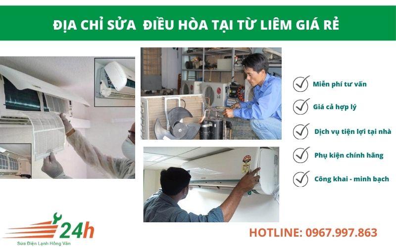 Điện Lạnh Hồng Vân nhận sửa điều hòa tại Từ Liêm giá rẻ nhất Hà Nội