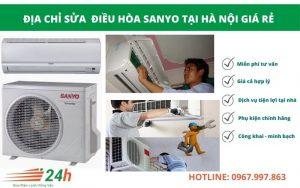 Điện Lạnh Hồng Vân chuyên sửa điều hòa Sanyo giá rẻ, chất lượng tại Hà Nội