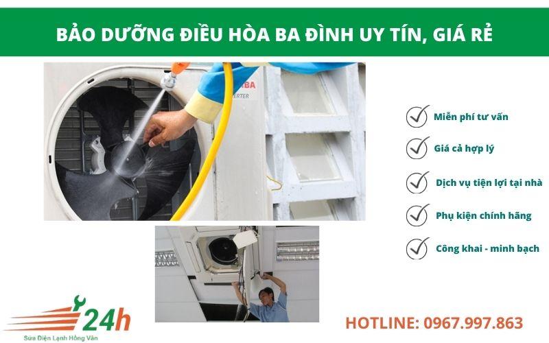 Điện Lạnh Hồng Vân nhận bảo dưỡng điều hòa Ba Đình giá rẻ nhất Hà Nội